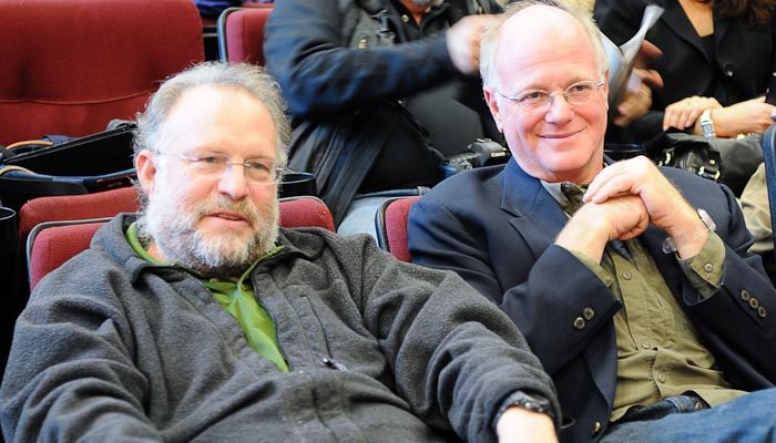 Jerry Greenfield and Ben Cohen, founders of Ben and Jerry's